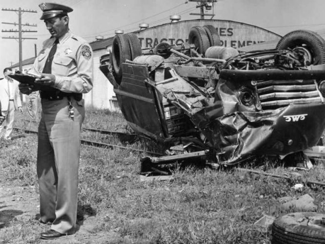 Traffic Accident 1950's
